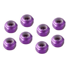RC HSP 102048 Purple Aluminum Nylon Nut M3 8p For 1/10th On-Road Car/Buggy/Truck