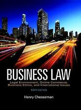 Business Law: Legal Environment, Online Commerce, Business Ethics, and Internati