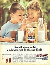 PUBLICITE ADVERTISING 015  1965  NESQUICK   cholaté  petit déjeuner