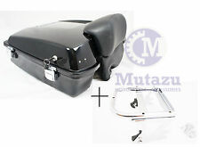 Black Razor Tour Pak Trunk & Two Up Detachable Rack fits Harley Touring FLH FLT