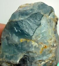 "3"" DARK BLUE FLUORITE Rough Crystal Specimen from Afghanistan 6"