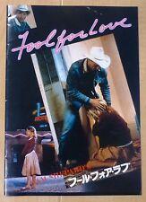 FOOL FOR LOVE Original Japan Movie Program Book 1986 Robert Altman Kim Basinger