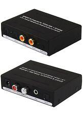 4 INPUT Digital Coax / Optical Audio to 1 Analog Stereo 3.5mm Optical OUT Switch