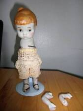 """Marked Made in Japan ~ Vintage Bisque Doll 7 3/4"""" w/Knot Tie"""