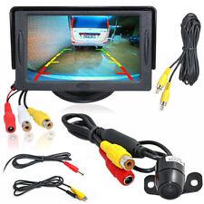 """4.3"""" TFT LCD New Driver Monitor Car Rear View Parking Camera Kit Backup Reverse"""