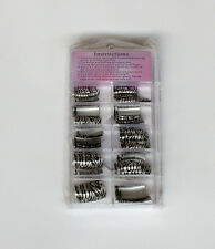 Box of 70 French Style Manicure Decoration False Beauty Nail Tips 10 Styles