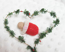 "2"" Polymer Clay Baby Doll in Christmas Cocoon"