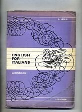 L.Lewis # ENGLISH FOR ITALIANS # Loescher