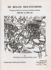 DE BELLIS multitudinis-ANTICHE BATTAGLIE MEDIEVALI 3000 A.C. - 1500 ad-Wargames
