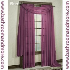 Sheer Window Treatment Curtain / Drapes Panel ; Single, Pair, Grommet OR Scarf