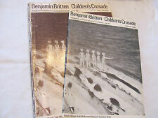CHILDREN'S CRUSADE by Benjamin Britten, full score and choral parts