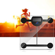397lb LCD Digital Bathroom Body Weight Scale Tempered Glass with Batteries