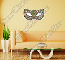 """Carnival Party Mask Theater Rainbow Wall Sticker Room Interior Decor 25""""X16"""""""