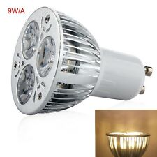 Super Bright AC220V Dimmable GU10 9W 3X3W LED Lamp Spotlight Warm White A 66