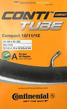 Continental Compact Fahrradschlauch für 10/11/12 Zoll mit Autoventil 45°
