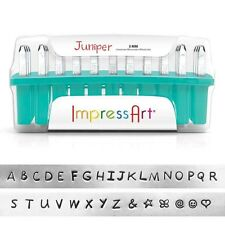 ImpressArt Juniper Uppercase Letter Metal Stamps- Punches for Jewelry Making