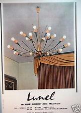 PUBLICITÉ 1957 LUSTRE LUNEL LUMINAIRE PRODUCTION ROYAL-LUMIÈRE - ADVERTISING
