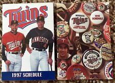 1991 Minnesota Twin Pocket Schedule, World Series Championship Year & 1997