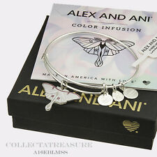 Authentic Alex and Ani Luna Moth Shiny Silver Bangle