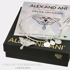 Authentic Alex and Ani Luna Moth Shiny Silver Bangle