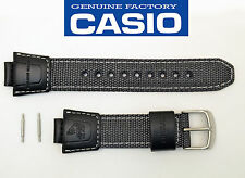 CASIO FISHING GEAR RUBBER  WATCH BAND STRAP BLACK AMW-700 AMW-700B
