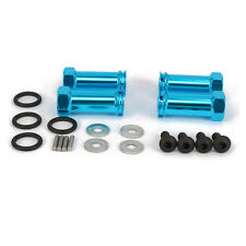 Alum 30mm Extension Adapter 12mm Wheel HEX For RC 1:10 Traxxas Slash Blue