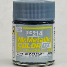 GSI CREOS GUNZE MR HOBBY Color GX214 Metallic Ice Silver LACQUER PAINT 18ml NEW
