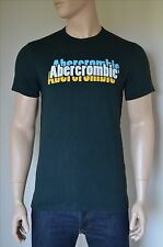 NEW Abercrombie & Fitch Print Logo Graphic Tee Green T-Shirt XL