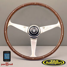 Nardi Steering Wheel Anni '50 Mahogany Wood Glossy Spokes 380mm 5038.39.3000