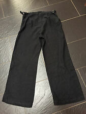 MOTHERCARE BLACK 100% LINEN MATERNITY TROUSERS SIZE 14