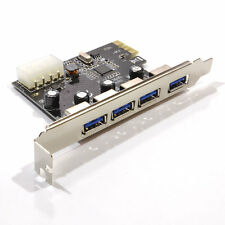 USB 3.0 PCI-E Express ADD-ON Card with 4 Ports  Hub Multiplier Motherboard