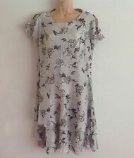 STEILMANN Light grey Floral Lagenlook layered Style Summer Dress Size 12