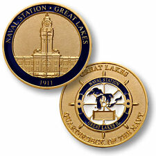 Naval Station Great Lakes Challenge Coin USN Quarterdeck of the Navy Clock Tower