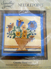 Candamar Designs Country Floral 1984 Petit Point needlepoint canvas Floss info