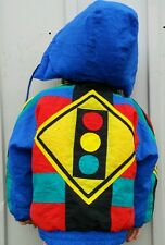 Vintage Boys 4T Rothchild Stop & Go Primary Color Winter Jacket