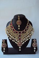 Designer Ethnic Indian Gold Tone Bollywood Fashion Bridal Jewelry Necklace Set