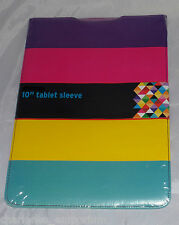 "10"" Tab Tablet protective sleeve pouch case Samsung Universal Stripes design NEW"