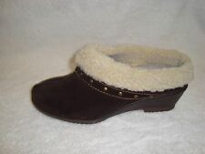 Sporto CATHY WATER RESISTANT suede Clog  Studs Booties brown 9.5m