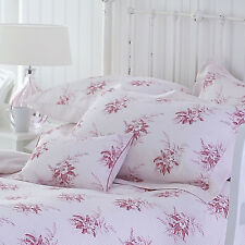 Country Living Vintage Rose Pink Double Duvet Cover & 2 Pillowcases 100% COTTON