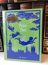 Peter Pan by J. M. Barrie - leather-bound, illustrated - ships in a box - sealed