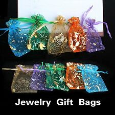 50pcs Organza Jewelry Candy Pendent Mixed Color Mini Wedding Gift Pouch Bags
