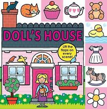 DOLL'S HOUSE DOLLHOUSE Lift the Flap BOARD BOOK Roger Priddy (2013) toddler play
