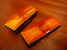 RENAULT 5 GT TURBO NEW AMBER ORANGE SIDE REPEATERS INDICATORS LIGHTS PAIR