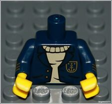 Lego City x1 Dark Blue Coat Torso Sweater Captain Navy Sailor Man Minifigure NEW