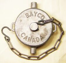 "DIXON BAYCO PC30 OSHKOSH 2EL847 NEW TANKER PIPE CAP 3-1/2-8 NPT 12"" CHAIN W/HK"