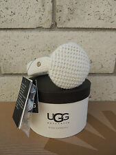 UGG CREAM GREAT JONES KNIT/ SHEARLING WIRED AUDIO DEVICE EARMUFFS, NWT AND BOX