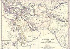 Echte alte Landkarte OSTRÖMISCHES REICH 642 n.Chr Ostrom S.P.Q.R. Westasien 1850