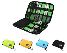 Travel Bags Data Cable Practical Earphone Wire Storage Bag Organizer - Green
