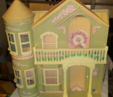 Vintage Pink Barbie Doll Dream House Victorian Mansion Dollhouse Elevator