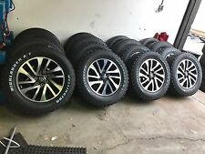 "4X NEW GENUINE NAVARA NP-300 18"" WITH ALL TERRRAIN TYRES ALLOYS 265/60/18"""
